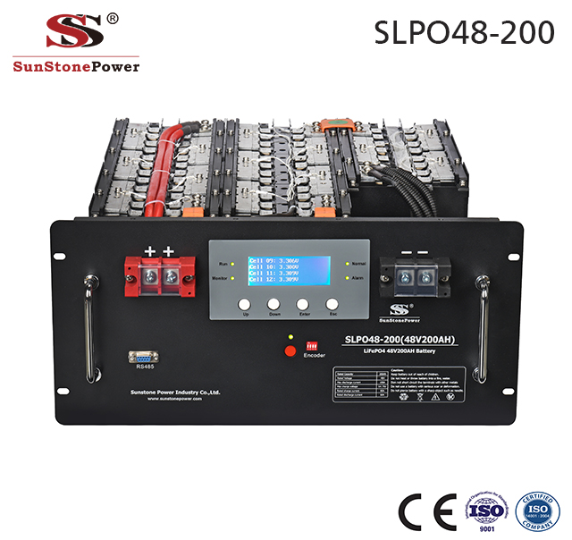 Sunstone Power 48V 10.2kWh 200AH LiFePO4 Lithium Batterie Akku mit BMS