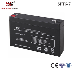 Sunstone Power Solaranlage Batterie 6V 7AH Deep Cycle AGM Batterie